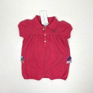 Ralph Lauren Baby Girl Ruffle Romper 9 Months NWT
